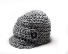0d764aa2c46 Baby Boy Hat Newborn Hat Baby Boy Crochet Hat Infant Gray Newsboy Hat Photo  Prop Baby