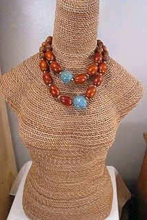 jewelry display mannequins   DIY mannequin for jewelry display   diy: misc project ideas