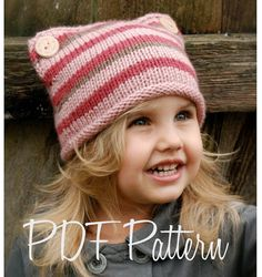 Knitting Pattern The Lyllie Hat Toddler Child by Thevelvetacorn, $5.50