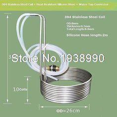 8.8 M Bobina De Acero Inoxidable Equipo de elaboración de Cerveza Enfriador Enfriador de Mosto de Inmersión(China (Mainland))