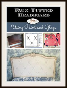 Faux Tufted Headboard - Patina Paradise