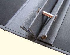 Hand Bound Portfolio by Dalston Bloc - screw post detail