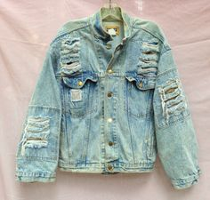 early 1980s KOZMIC BLUEZ shredded by ChellaMiBellaVintage on Etsy, $55.00
