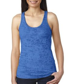 Next Level N6533 Ladies Burnout Razor Tank - Royal N6533
