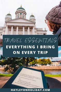 My comprehensive list of travel essentials features everything I bring on every trip. From random necessities to my tech travel gear, this list covers all bases.  Travel packing list | Travel packing essentials | Travel packing guide | Vacation essentials | What to pack for vacation | Travel essentials list | travel essentials for women | airplane travel essentials |  #vacation #travel #packinglist #traveltips Solo Travel Europe, Packing List For Travel, Packing Tips, Spain Travel, Travel Guide, Travel Style, Travel Fashion, Fashion Tips, Travel Essentials