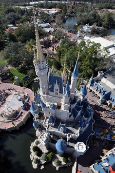 Another, more recognizable view of Cinderella Castle from above.