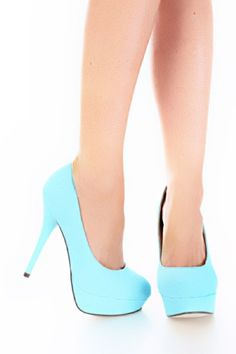 Light Blue Glitter Platform Pump Heels @ Amiclubwear Heel Shoes ...