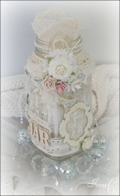 Paper Girl Crafts: September 2010 ... Gorgeous jar ... http://papergirlcrafts.blogspot.com/2010_09_01_archive.html#