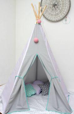 #pacztipi #pacz #teepee #tipi #wigwam #tent #crochet #pillows #stars #clouds #radosnafabryka #handmade Hanging Chair, Cotton Fabric, Toddler Bed, Furniture, Home Decor, Homemade Home Decor, Cotton Textile, Home Furnishings, Interior Design