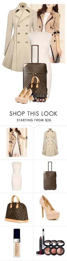 """Suitcase outfit"" by kerry6590 ❤ liked on Polyvore featuring Alexander McQueen, Louis Vuitton, Jessica Simpson, Christian Dior and Laura Geller"