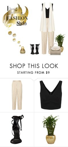 """shein contest"" by ellyandeddy-mendo ❤ liked on Polyvore featuring The Row, Schutz and La Mania"