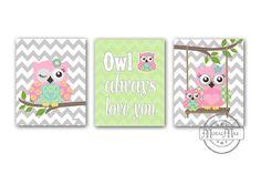 Hey, I found this really awesome Etsy listing at https://www.etsy.com/listing/151791124/owl-nursery-decor-owl-print-wall-art-set