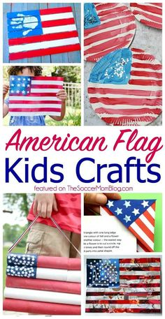 The cutest american flag crafts for kids! craft ideas for of july # kidscrafts Fourth Of July Crafts For Kids, Diy For Kids, Kids Fun, Craft Activities, Preschool Crafts, Diy Crafts, Preschool Ideas, American Flag Crafts, American Symbols
