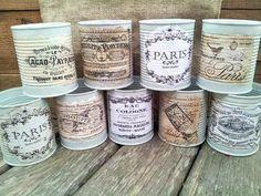 vintage decoupage candle - Pesquisa Google
