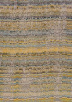 """8x8 Sphinx Washed Casual Yellow 5992Y Stripes Lines Area Rug Approx 7'8"""" Round 