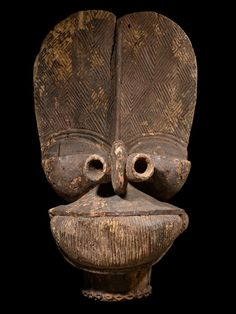 View 1: Batcham, mask, brought to Belgium in the fall of 1959 by a cultural exchange group, it remained in Belgium; Africa, Camaroon
