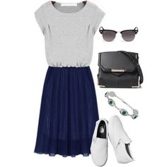 A fashion look from August 2014 featuring Vans sneakers, Alexander Wang shoulder bags and Ray-Ban sunglasses. Browse and shop related looks.