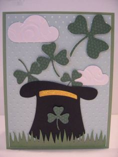 hat with shamrocks by PedalPower - Cards and Paper Crafts at Splitcoaststampers