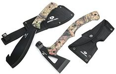 Amazon.com : Mossy Oak 2-Piece Outdoor Camping Survival Hunting Axe and Machete Set Camo Handle : Sports & Outdoors