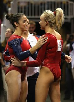 Aly Raisman and Nastia Liukin after the 2012 Olympic Trials <3