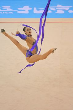 Anna Bessonova world champion from Ukraine in her ribbon exercise