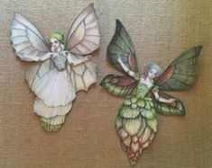 Kit de muñeca de papel de sirena articulado por cynthiathornton