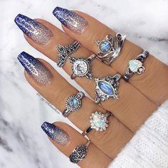 21 Fab Winter Nail-Designs die Trendy Sein in My Winter Nails Coffin . Ombre Nail Designs, Winter Nail Designs, Halloween Nail Designs, Acrylic Nail Designs, Nail Art Designs, Nails Design, Bright Summer Acrylic Nails, Summer Nails, Pink Nail Art