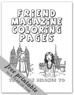 A Year of FHE: 15 Fabulous General Conference Activities - Oct. love these coloring pages for church dry erase book Sunday Activities, Church Activities, Activity Days, General Conference Activities For Kids, Learning Activities, Lds Coloring Pages, Coloring Sheets, Free Coloring, Printable Coloring