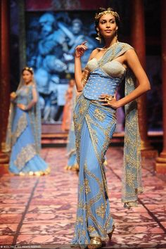 Former Miss India Amruta Patki walks the ramp for designer Suneet Varma on Day 5 of the India Bridal Fashion Week (IBFW) 2013, held in New Delhi.