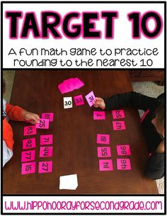 Target 10 is an engaging math game that allows students to practice the not-so-fun skill of rounding in a fun way! It's perfect for math centers or a math workshop station!