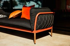 Inspired by the Australian outdoor lifestyle and his own childhood in Perth, Adam Goodrum created a new collection of furniture for lounging outdoors. Outdoor Lounge, Creative Studio, Tub Chair, Minimalist Design, Contemporary, Modern, Accent Chairs, Design Inspiration, Daybeds