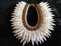 Beyonce Shell Fashion Necklace Haute Couture Facebook tribal adornment #savageharvest