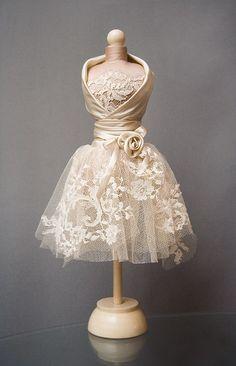 Mannequin Art, Dress Form Mannequin, Barbie Dress, Barbie Clothes, Wedding Wine Glasses, Barbie Mode, Recycled Dress, Fairy Clothes, Mini Vestidos