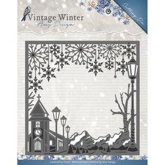 Find It Trading Amy Design Vintage Winter Die Square Village Frame