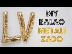 DIY Como Fazer Balão de Letras Metalizado | Larissa Vale - YouTube