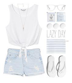 Lazy Summer Day by kearalachelle on Polyvore featuring Monki, MANGO, Amber Sceats, Muse, Deborah Lippmann and Zoya