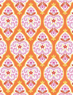 Sunshine Collection - Medallion in Orange by Dena™ Designs for Free Spirit Fabrics