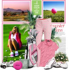 """Keep Calm and Golf On"" by lollypop1 ❤ liked on Polyvore"