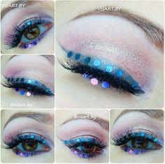 Креативный макияж глаз. Макияж глаз с блестками и тенями палетки Aqua от Sleek и ресницами от Ardell #mua #glamour #dressyourface #makeupeyes #makeup #instamakeup #eyes #eyeshadow #sleekeyeshadow #violet #pink #makeupaddict #creative #makeupmafia #makeupartist #mascara #bblog #bbloggers  #макияждлясебя #макияждляфотосессии #макияж #макияжминск #визажист #визажистминск #макияждня #макияжглаз #красивыймакияж #вечерниймакияж #креативныймакияж #бьютиблог www.visart.by