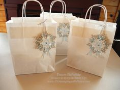 Festive Flurry Ornament Kit Gift Bags by dostamping - Cards and Paper Crafts at Splitcoaststampers