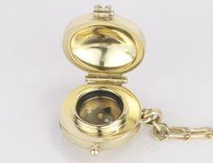 Handmade Gold Compass Locket