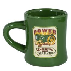 Stoneware Diner Mug by McCormick Farmall Green  John Deere Tractor -- Continue to the product at the image link. (This is an affiliate link)