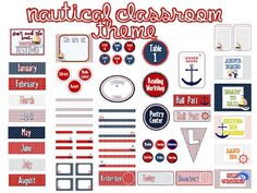 printable nautical themed classroom decor