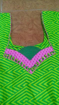 Different types of kurtis neck designs - Art & Craft Ideas Chudithar Neck Designs, Salwar Neck Designs, Saree Blouse Neck Designs, Neck Designs For Suits, Sleeves Designs For Dresses, Dress Neck Designs, Sleeve Designs, Neck Patterns For Kurtis, Kurta Patterns