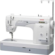 Quilters and capable seamstresses love the Janome 1600P-QC.  Some describe it as a combination between a home machine and an industrial machine.  It can operate at 1600 stitches per minute and it sews through thick materials like butter. But please do your due diligence - you need to know what you are buying. Sewing Machine Brands, Sewing Machine Reviews, Industrial Machine, Diligence, Juki, Janome, Stitches, Butter, Stuff To Buy