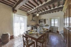 Tuscan charms lives on in this traditional dining setting, Maremma.