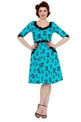 Voodoo Vixen Katnis Dress in Blue S-XL