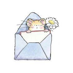 He so Adorable! Penny Black Karten, Penny Black Cards, Penny Black Stamps, Animal Sketches, Animal Drawings, Maus Illustration, Envelope Art, Baby Kind, Watercolor Cards