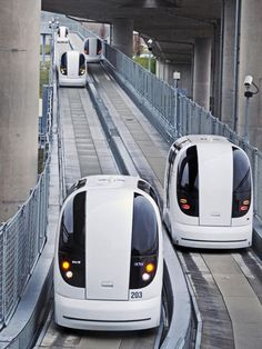 Single Cars Personal Rapid Transit at Heathrow Airport