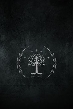 Why is their an elvish script on under the Gondolian tree? Because they are from the race of the Numenor. Who are descendants of elves and noble men. Duh